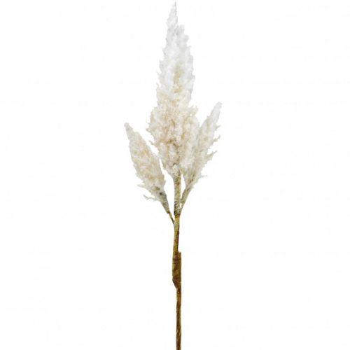 Pampas gräs vit grädde konstgjord torrgräsdekoration 82cm