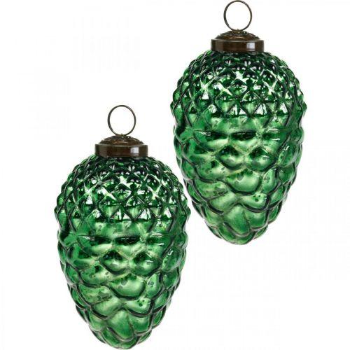Adventdekoration, dekorativa kottar, höstfrukter äkta glas, antikt utseende Ø7cm H11,5cm 6st