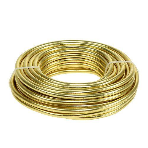 Aluminiumtråd 5mm 500g guld
