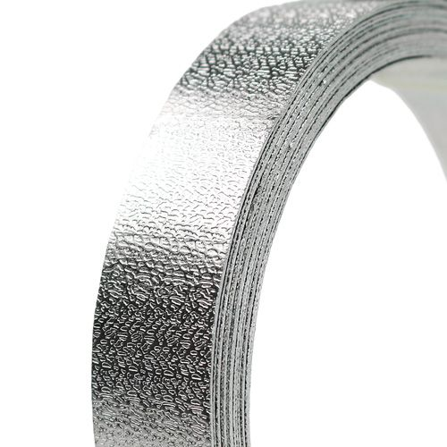 Aluminiumband platt tråd silvermatt 20mm 5m
