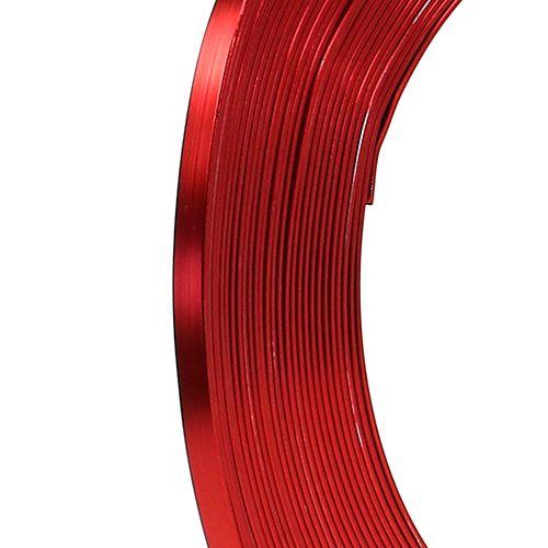 Plattråd i aluminium röd 5mm 10m
