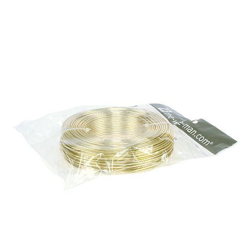 Aluminiumtråd Ø2mm 500g 60m guld