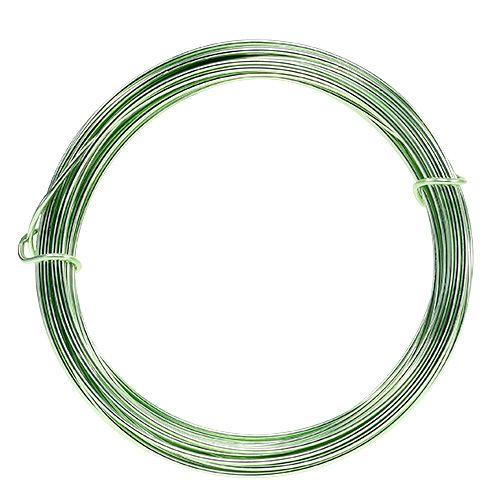 Aluminiumtråd 2mm 100g mintgrön