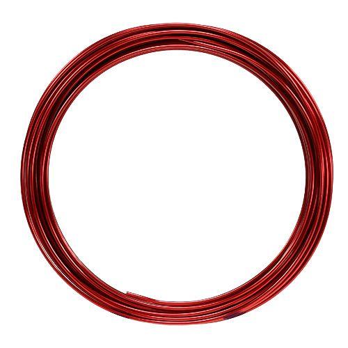 Aluminiumtråd 2mm 100g röd