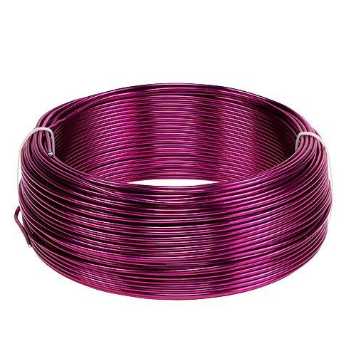 Aluminiumtråd Ø2mm Pink 500g (60m)
