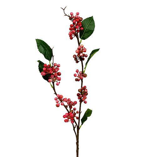 Konstgjord bärgren röd och vit 64 cm 6st