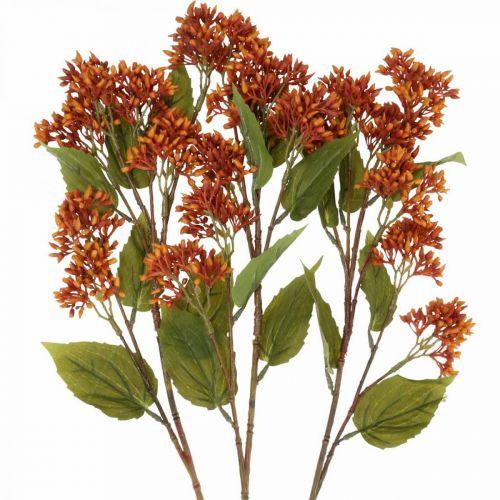 Dekorativ gren höst konstgjord orange 63cm 3st