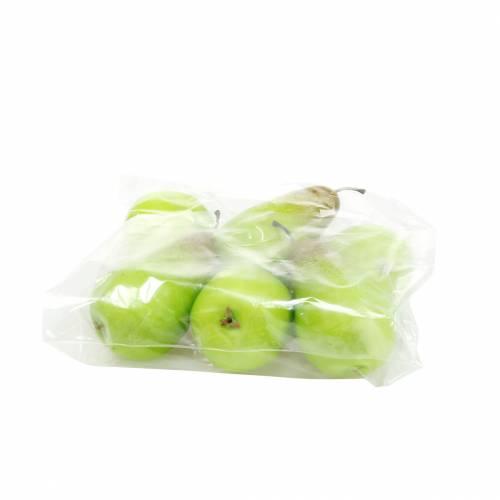 Mat dummy päron 10,5 cm grön 6st