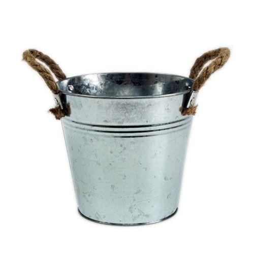 Burkskopa med rephandtag glänsande Ø18cm
