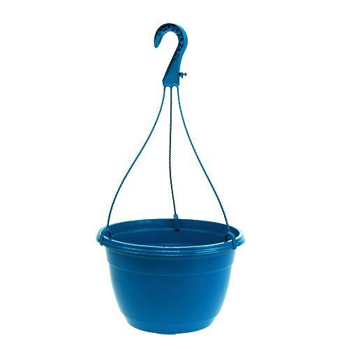 Blomkorg 25cm blå