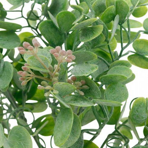 Bröllop dekoration eukalyptus grenar med blommor dekoration bukett grön, rosa 26cm