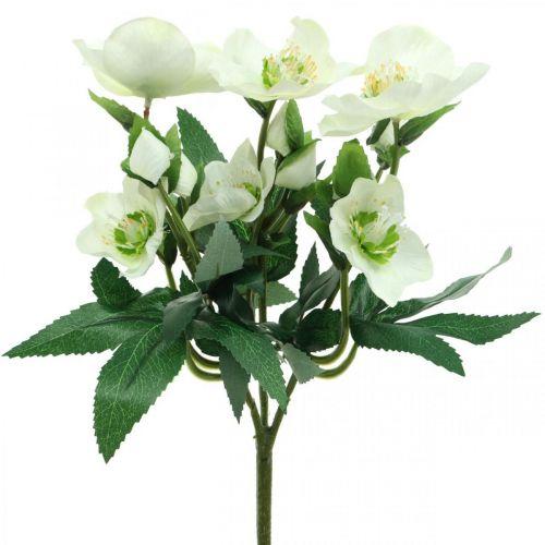 Julrosor vit dekorativ bukett konstgjorda blommor Jularrangemang 27cm