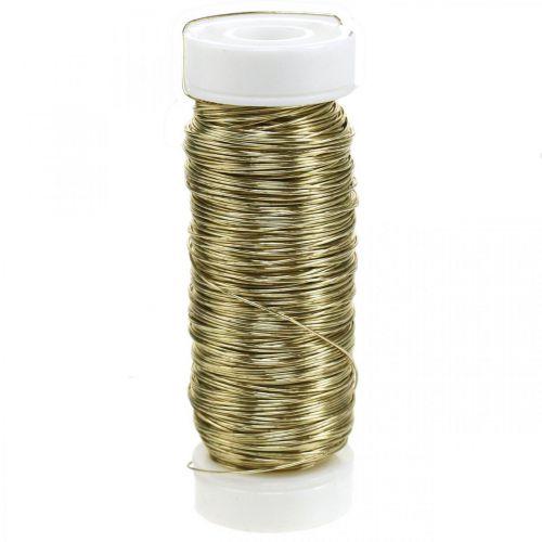 Dekorativ emaljerad tråd Ø0.30mm 30g / 50m guld
