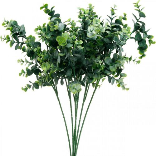 Dekorativ eukalyptusgren mörkgrön Konstgjord eukalyptus Konstgjorda gröna växter 6st