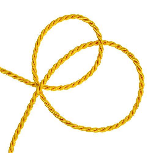Dekorativ sladd i gul 4mm 25m