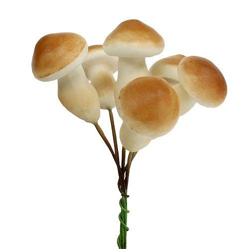 Dekorativ svamp på tråd 3cm - 5cm 24st