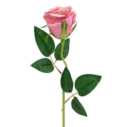 Dekorativ ros Ø6cm duskrosa L50cm 1p