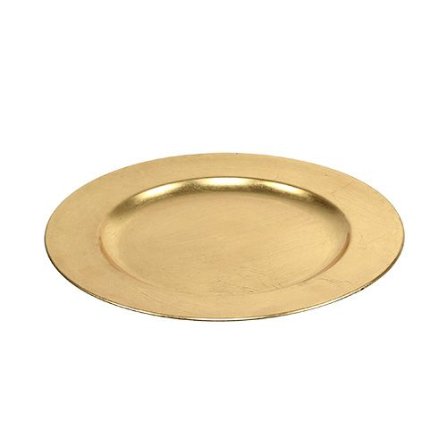 Dekorativ platta guld Ø28cm