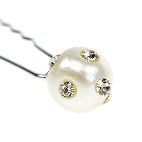 Dekorativ stift med pärla Ø9mm 20st