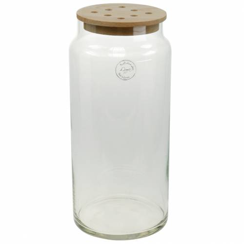 Dekorativ vas med hål Glasvas med perforerat lock Modern blomdekoration
