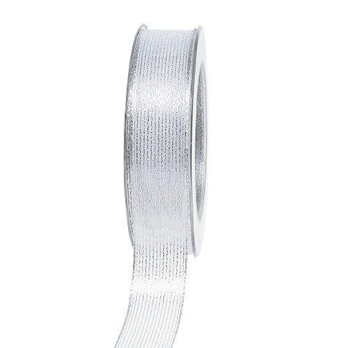 Dekorativ tejp med lurexband silver 25mm 20m