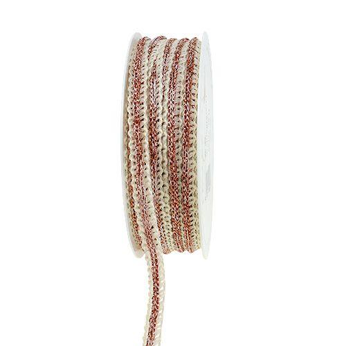Dekorativt smal kräm med tråd 8mm 15m