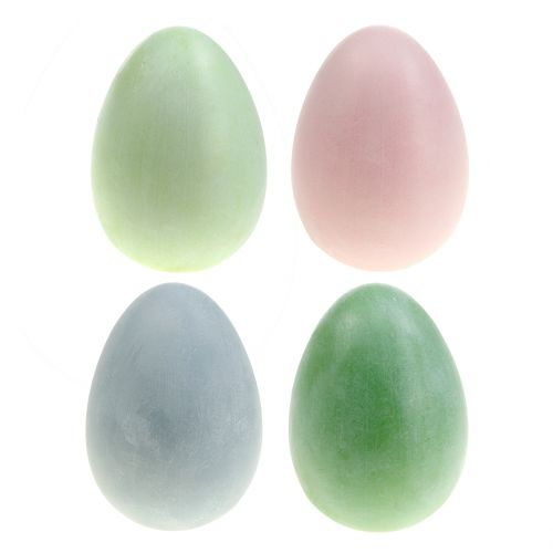 Påskägg sortiment pastellfärger H10cm 8st