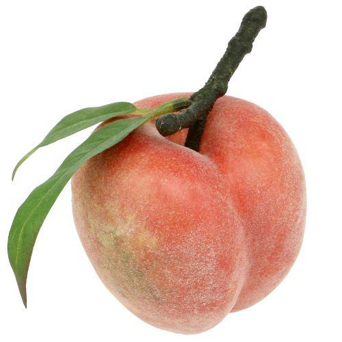 Dekorativ frukt persikorosa Ø8cm L10cm 4st