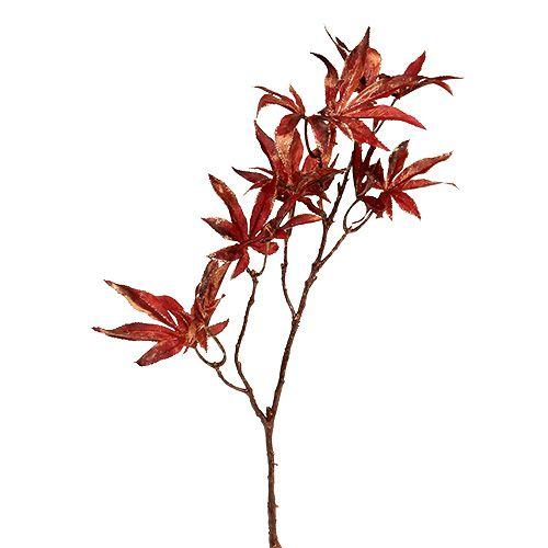 Dekorativ gren mörkröd med glimmer 52 cm
