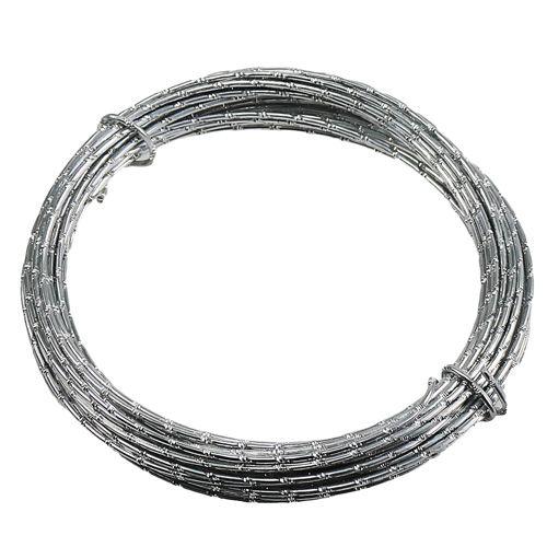 Diamant aluminiumtråd silver 2mm 10m