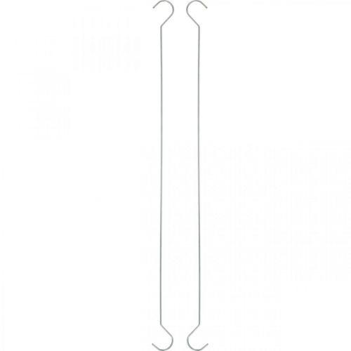 Metalkrokar, dubbla krokar silver XL L40cm 5st
