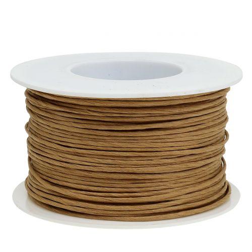 Papperstråd, tråd insvept i Ø2mm, 100m naturligt