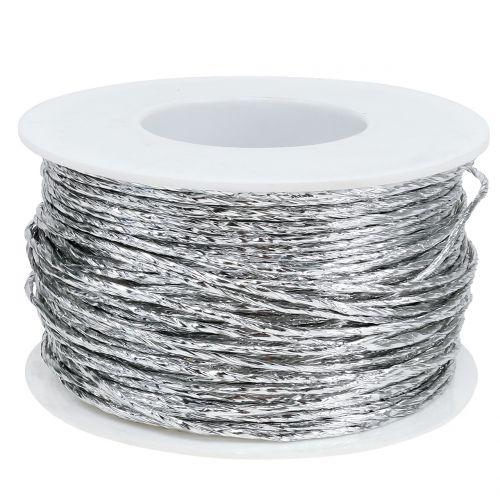 Tråd insvept i silver Ø2mm 100m