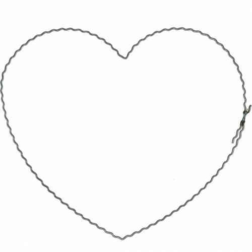 Trådhjärtor 20 cm vågringar kransringar hjärta 10st
