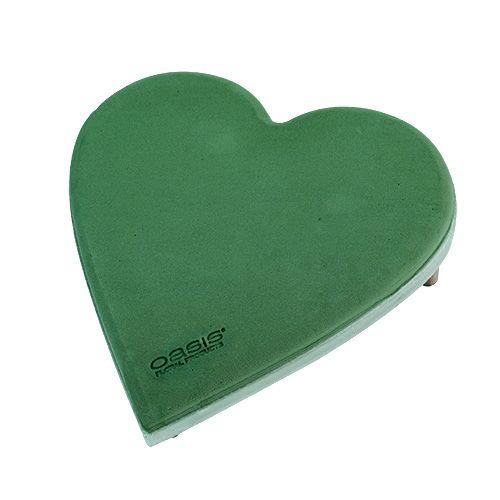 Blommaskumhjärta med klicksystempluggstorlek grön 20cm 2st