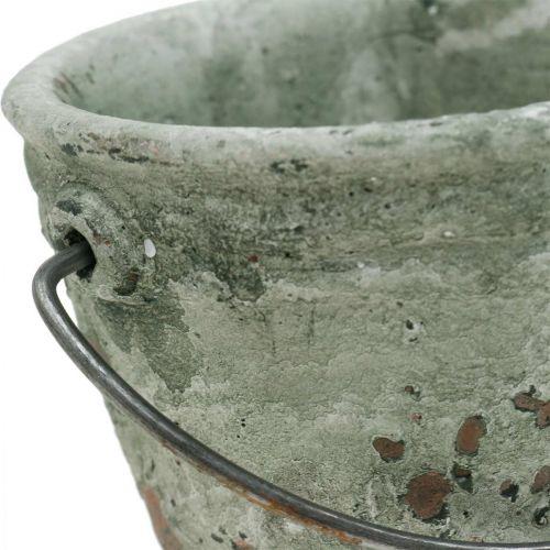 Hink för plantering, keramiskt kärl, hinkdekoration, antik optik Ø11,5cm H10,5cm 3st