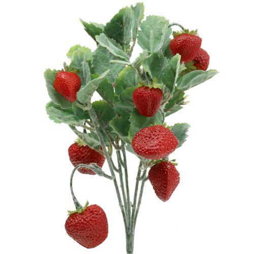Konstgjord jordgubbar plocka röd L30cm