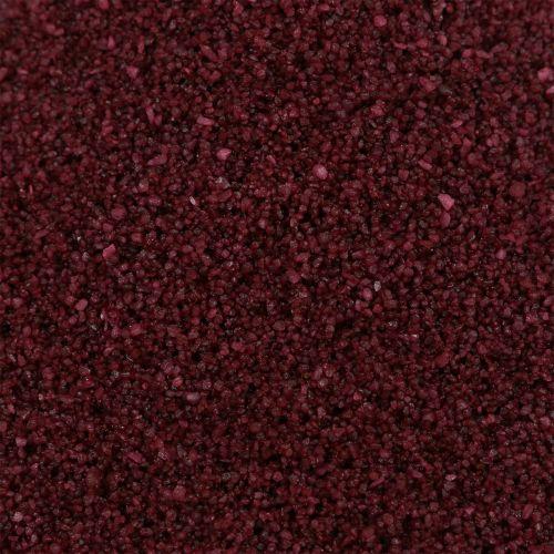 Färgsand 0,5 mm vinröd 2 kg