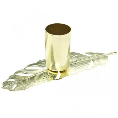 Ljusstake på våren, metalldekoration, ljusstake, adventsdekoration gyllene Ø2,2cm L13cm 4st