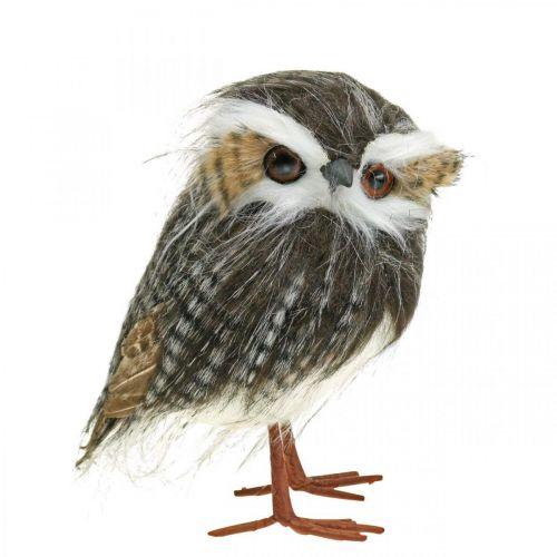 Uggla att dekorera, höst, dekorativ fågel, skogspynt H21cm