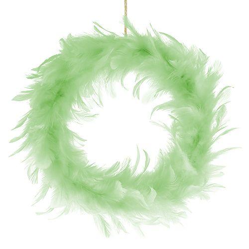 Fjäderring ljusgrön Ø20cm 3st