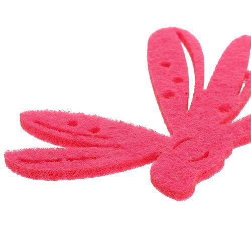 Filt scatter dekoration rosa 24st