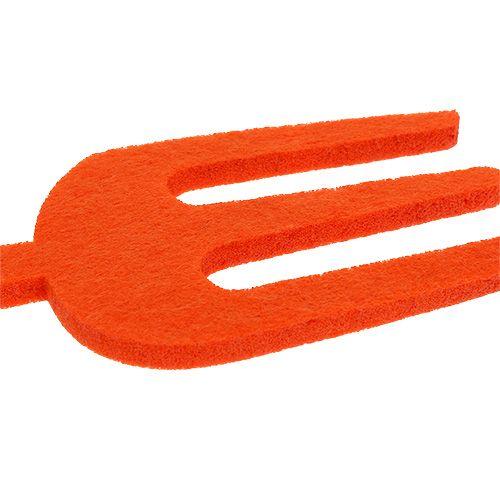 Filt trädgårdsverktyg orange 6st