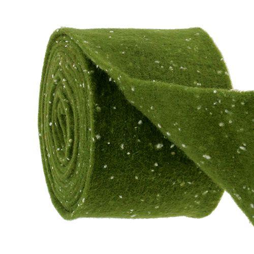 Filtbandmossgrön med prickar 15 cm 5m