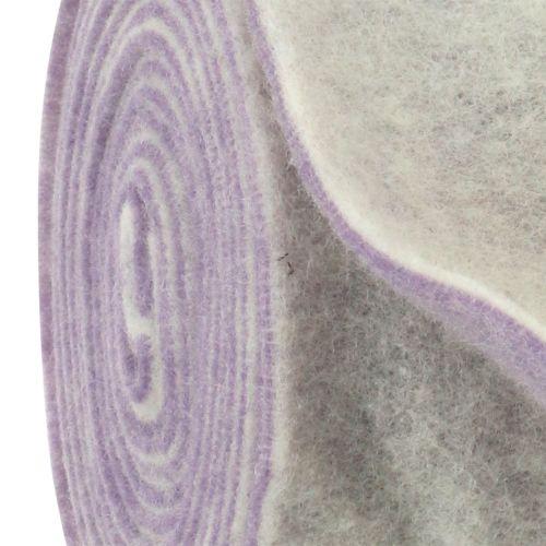 Filtband 15 cm x 5 m tvåfärgat ljus lila, vitt