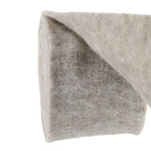 Filttejp, grytband grå-naturligt 15cm 5m