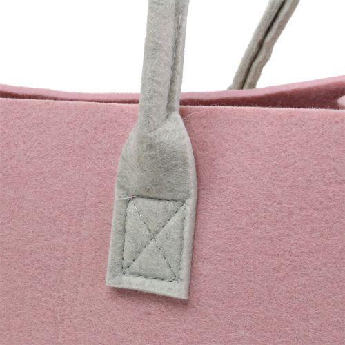 Filt väska rosa 50 cm x 25 cm x 25 cm