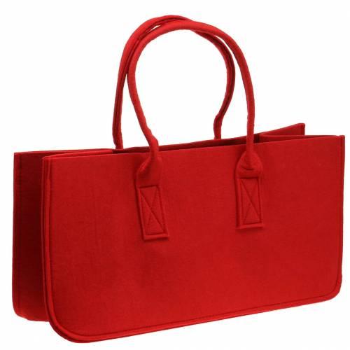 Filt väska röd 50 × 25 × 25 cm
