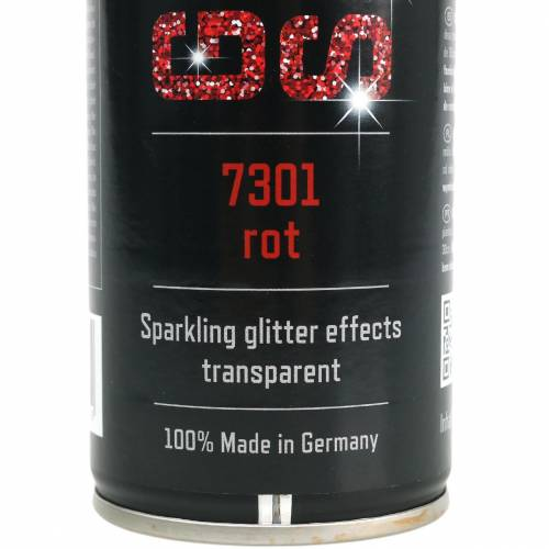 Glitter spray röd 400ml
