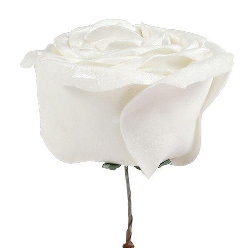 Skumrosa vit med pärlemor Ø10cm 6st